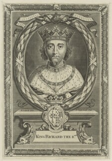 King Richard II, by Peter Vanderbank (Vandrebanc), after  Edward Lutterell (Luttrell) - NPG D23719