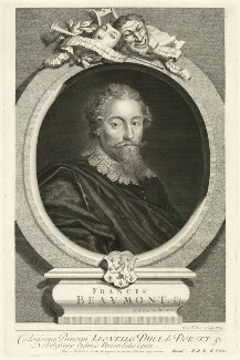 Francis Beaumont, by George Vertue, after  Unknown artist - NPG D31589