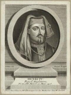 King Henry IV, by Pierre François Basan, after  George Vertue - NPG D23726