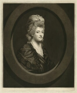 Margaret Beaumont (née Willes), Lady Beaumont, by John Raphael Smith, after  Sir Joshua Reynolds - NPG D31595