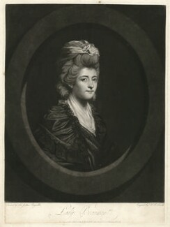 Margaret Beaumont (née Willes), Lady Beaumont, by John Raphael Smith, after  Sir Joshua Reynolds - NPG D31596