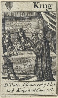 'Dr Oates discovereth ye Plot to ye King and Councell' (Titus Oates; King Charles II), after Francis Barlow - NPG D23012(a)