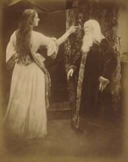 'Vivien and Merlin' (Agnes Mangles (Lady Chapman); Charles Hay Cameron), by Julia Margaret Cameron - NPG x18029