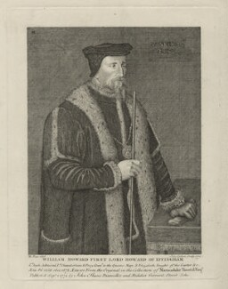 William Howard, 1st Baron Howard of Effingham, by John Ogborne, possibly after  Hans Eworth - NPG D31597