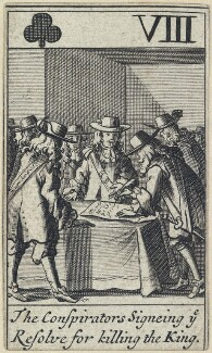 'The Conspirators Signeing ye Resolve for killing the King', after Francis Barlow - NPG D23013(f)