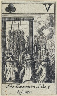 'The Execution of the 5 Jesuitts', after Francis Barlow - NPG D23013(i)