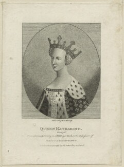 Catherine of Valois, by Silvester (Sylvester) Harding, published by  E. & S. Harding - NPG D23752