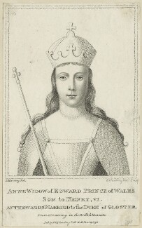 Anne Neville, Queen of England, by Edward Harding Jr, published by  E. & S. Harding, after  Silvester Harding - NPG D23754