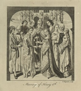 The Marriage of King Henry VI to Margaret of Anjou, by Charles Grignion - NPG D23763