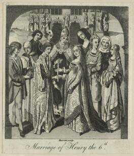The Marriage of King Henry VI to Margaret of Anjou, by G. Barrett, after  Jan Gossaert (Mabuse), late 18th century - NPG D23764 - © National Portrait Gallery, London