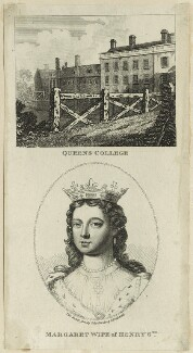 Queen Margaret of Anjou and Queen's College, published by Edward Harding - NPG D23779