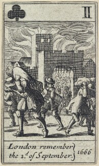 'London remember the 2d. of September 1666', after Francis Barlow - NPG D23013(l)