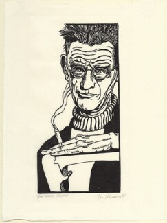 Samuel Beckett, by Lars Hokanson, 1978 - NPG D31605 - © National Portrait Gallery, London