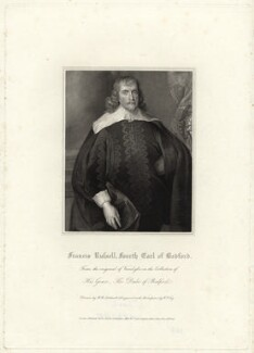 Francis Russell, 4th Earl of Bedford, by William Thomas Fry, after  Robert William Satchwell, after  Sir Anthony van Dyck - NPG D31611