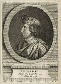 King Richard III, by Sébastien Pinssio, after  J. Robert, mid 18th century - NPG D23820 - © National Portrait Gallery, London