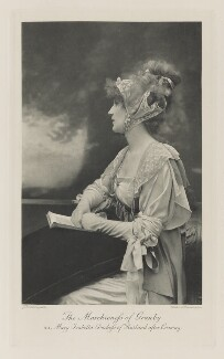 Violet Manners, Duchess of Rutland as Mary Isabella, Duchess of Rutland after Cosway, by John Thomson, photogravure by  Walker & Boutall - NPG Ax41217