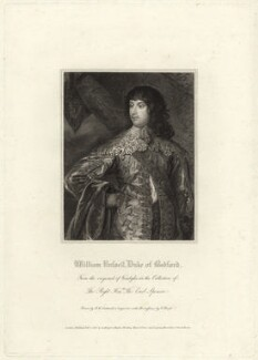 William Russell, 1st Duke of Bedford, by Charles Picart, after  Robert William Satchwell, after  Sir Anthony van Dyck - NPG D31614