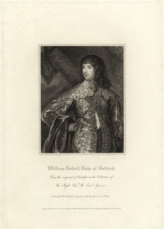 William Russell, 1st Duke of Bedford, by Charles Picart, after  Robert William Satchwell, after  Sir Anthony van Dyck - NPG D31615
