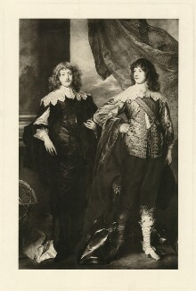 George Digby, 2nd Earl of Bristol; William Russell, 1st Duke of Bedford, after Sir Anthony van Dyck - NPG D31616