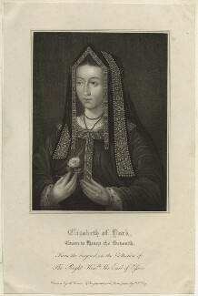 Elizabeth of York, by William Thomas Fry, after  Harold Crease, 1815 - NPG D23861 - © National Portrait Gallery, London