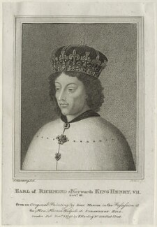 Unknown sitter engraved as King Henry VII when Earl of Richmond, by James Parker, published by  Edward Harding, after  Silvester (Sylvester) Harding, after  Unknown artist - NPG D23862