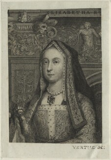 Elizabeth of York, possibly by George Vertue - NPG D23863