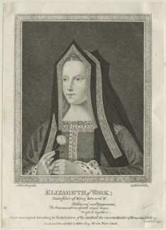 Elizabeth of York, by Andrew Birrell, published by  Edward Harding, after  Silvester Harding, published 1790 - NPG D23864 - © National Portrait Gallery, London