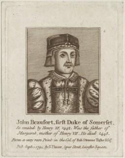 John Beaufort, Duke of Somerset, published by John Thane - NPG D23894