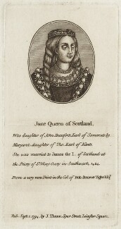 Joan, Queen of Scotland, published by John Thane - NPG D23896