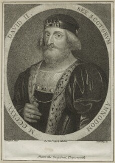 King David II of Scotland, by Edward Harding, published by  Isaac Herbert, after  Jamesson - NPG D23890