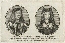 James IV of Scotland; Margaret Tudor, published by John Thane, after  Unknown artists, published 1796 - NPG D23903 - © National Portrait Gallery, London