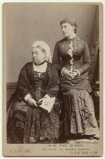 Queen Victoria; Princess Beatrice of Battenberg, by Alexander Bassano - NPG x32717