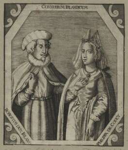 Robert de Vere and his wife Philippa de Coucy, after Unknown artist - NPG D23927