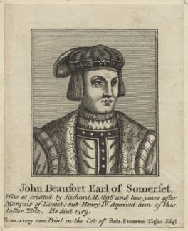 John Beaufort, Duke of Somerset, after Unknown artist - NPG D23929