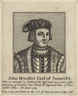 John Beaufort, Marquess of Dorset and Marquess of Somerset, published by John Thane, after  Unknown artist - NPG D23929
