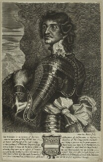 Unknown man engraved as Bertram Ashburnham, by Edward Davis (Le Davis), after  Unknown artist - NPG D23933