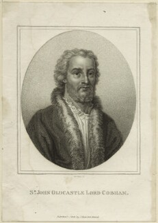 John Oldcastle, Baron Cobham, by Innocenzo Geremia, published by  John Scott - NPG D23937