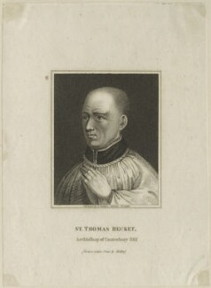 Thomas Becket, published by Edward Baldwyn, after  Wenceslaus Hollar - NPG D23970