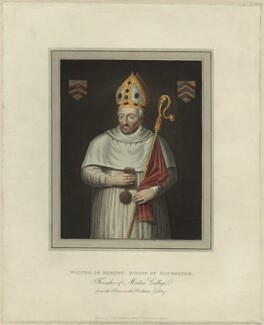 Walter of Merton, Bishop of Rochester, published by Rudolph Ackermann - NPG D23972