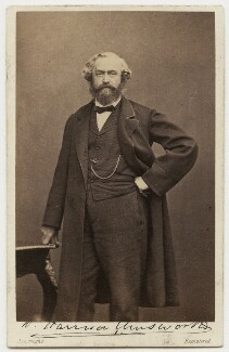 William Harrison Ainsworth, by Hennah & Kent, for and published by  William Henry Mason, 1863 - NPG x5151 - © National Portrait Gallery, London