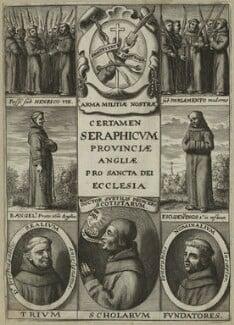 Alexander of Hales, Jon Duns Scotus, William Ockham, Agnellus of Pisa and John Gennings, after Unknown artist - NPG D23987