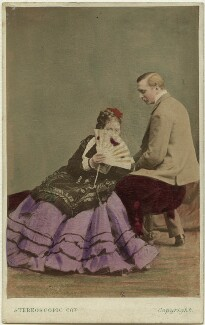 Madge Kendal; William Hunter Kendal (William Hunter Grimston), by London Stereoscopic & Photographic Company - NPG x19111