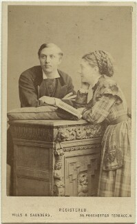 William Hunter Kendal (William Hunter Grimston); Madge Kendal, by Hills & Saunders, early 1870s - NPG x19112 - © National Portrait Gallery, London