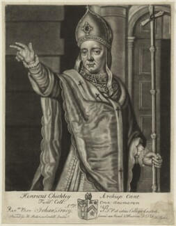 Henry Chichele, probably by John Faber Sr - NPG D24012