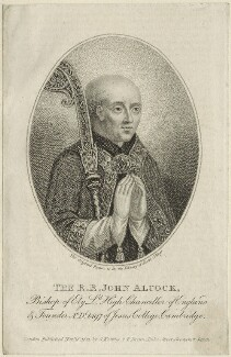 John Alcock, published by George Keating - NPG D24039