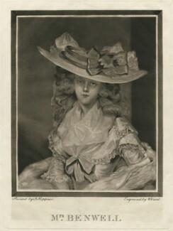 Mrs Benwell, after William Ward, after  John Hoppner - NPG D31685