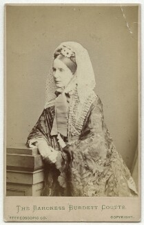 Angela Burdett-Coutts, Baroness Burdett-Coutts, by London Stereoscopic & Photographic Company, 1870s - NPG x4890 - © National Portrait Gallery, London