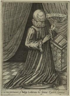 Sir Thomas Littleton (Lyttleton), by Robert Vaughan, after  Unknown artist - NPG D24048