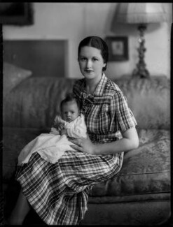 Lucius Edward William Plantagenet Cary, 15th Viscount Falkland; Constance Mary Cary (née Berry), Viscountess Falkland, by Bassano Ltd, 19 June 1935 - NPG x151444 - © National Portrait Gallery, London