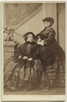 Princess Augusta Wilhelmina Louisa, Duchess of Cambridge; Princess Mary Adelaide, Duchess of Teck, by Camille Silvy, 9 October 1860 - NPG Ax46799 - © National Portrait Gallery, London